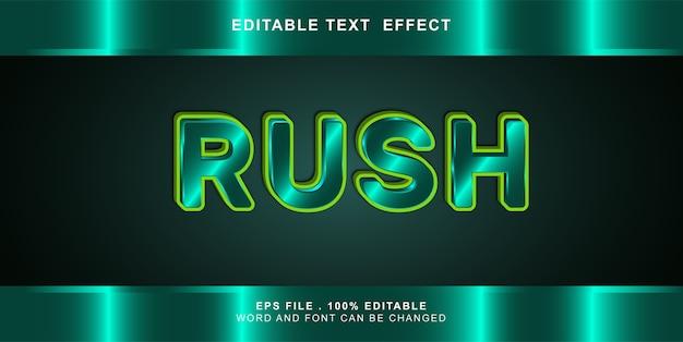 Editable text effect rush