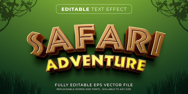 Editable text effect in safari game style