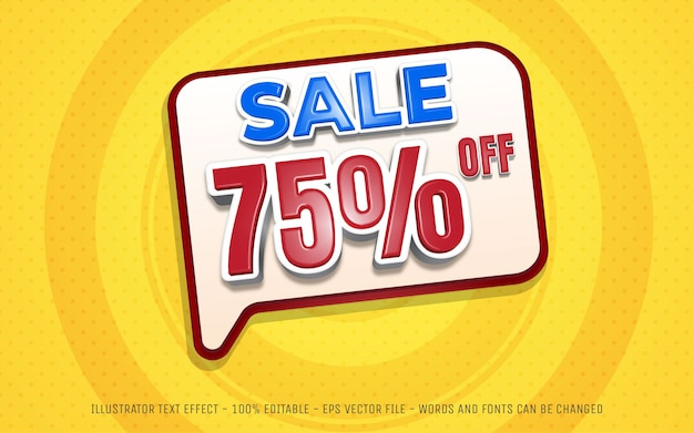 Editable text effect sale off  style illustrations