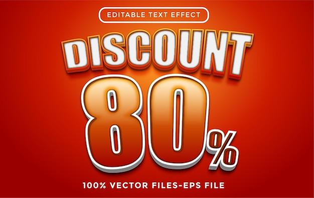 Распродажа с редактируемым текстовым эффектом premium векторы