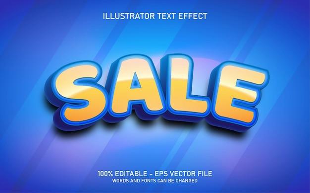 편집 가능한 텍스트 효과, 판매 스타일 일러스트레이션