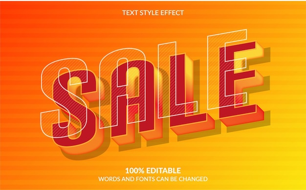Editable text effect sale text style
