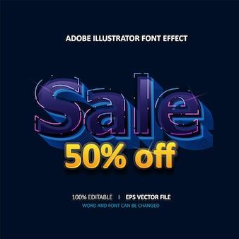 Editable text effect sale title