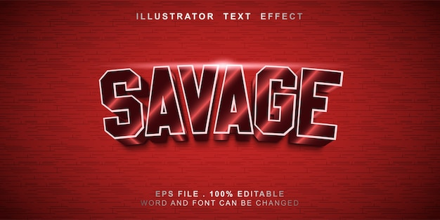 Editable text effect savage