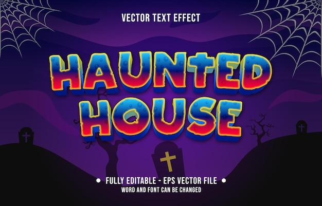 デジタルおよび印刷メディアテンプレート用の編集可能なテキスト効果怖いハロウィーンイベントのテーマスタイル