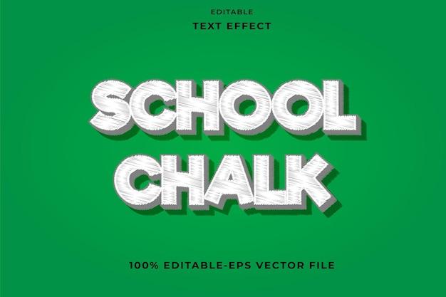 Editable text effect school chalk