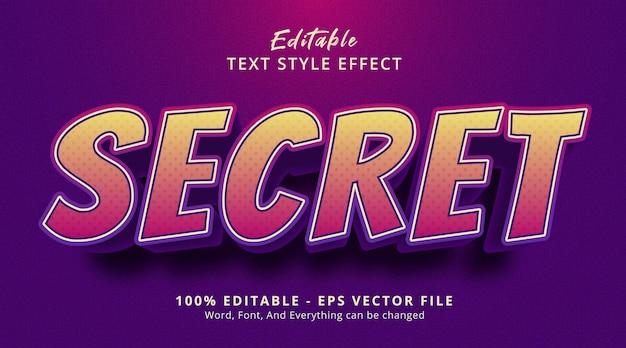 編集可能なテキスト効果、見出しのゲームポスタースタイルの秘密のテキスト