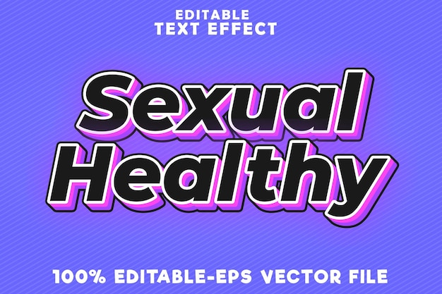 Editable text effect sexual healthy with future modern style