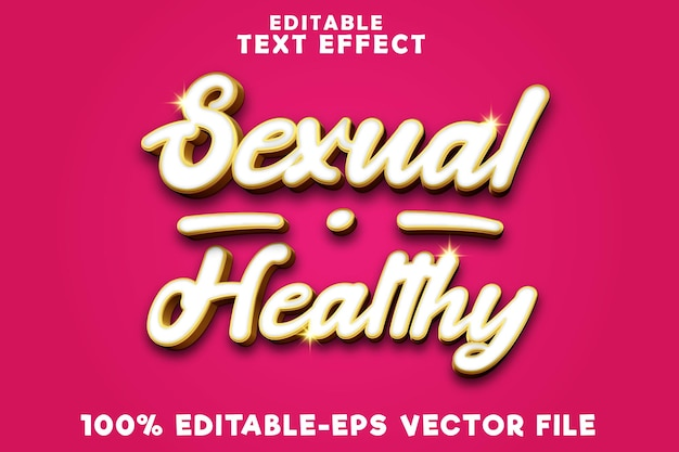 Editable text effect sexual healthy with luxury gold style