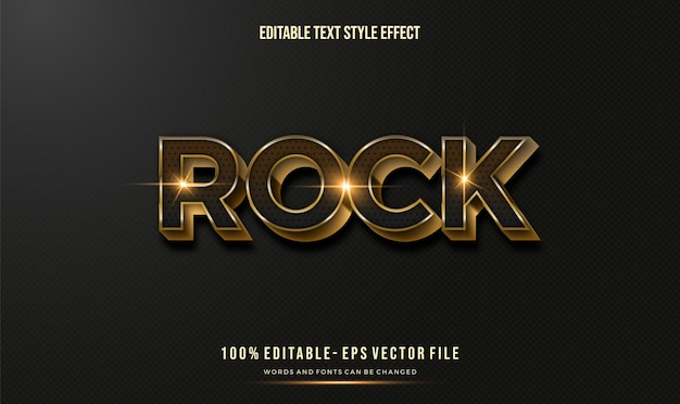 Editable text effect shiny gold. text style effect. editable fonts vector files