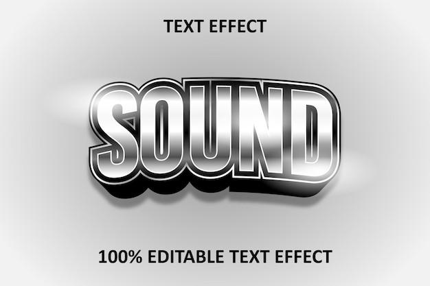 Editable text effect silver light