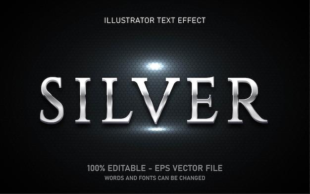 편집 가능한 텍스트 효과, 실버 스타일 일러스트레이션