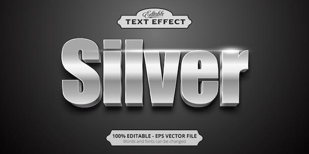 Редактируемый текстовый эффект, серебряный текст