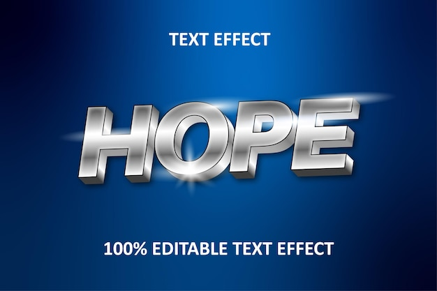 Editable text effect silver