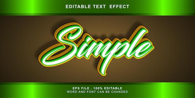 Editable text effect simple