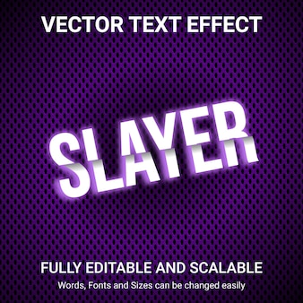Редактируемый текстовый эффект - текстовый стиль slayer