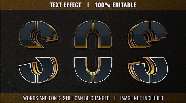 Редактируемый текстовый эффект - стиль нарезанного текста