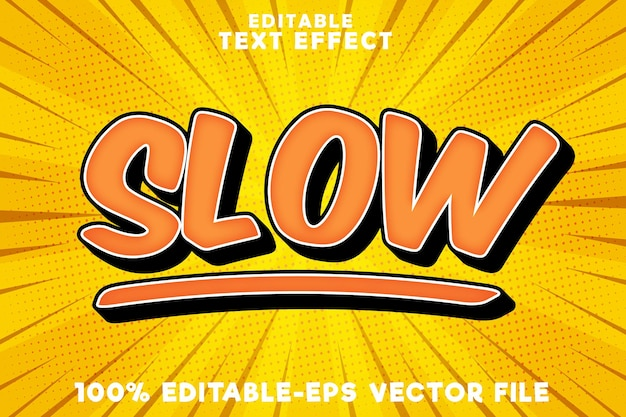 Editable text effect slow with simple comic style
