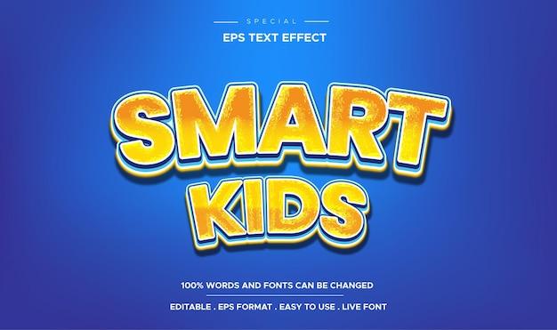 Editable text effect smart kids style