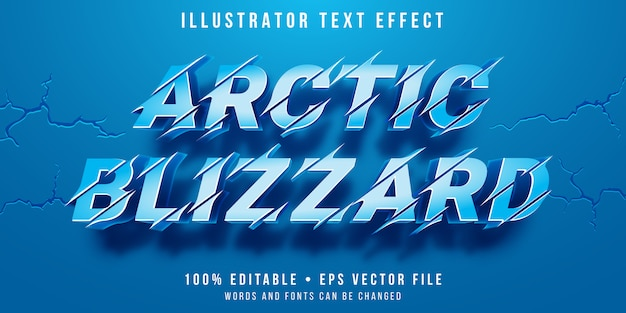 Editable text effect - snow blizzard style