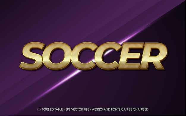 Editable text effect, soccer style illustrations