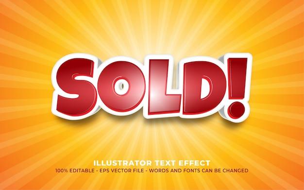 편집 가능한 텍스트 효과, 판매 스타일