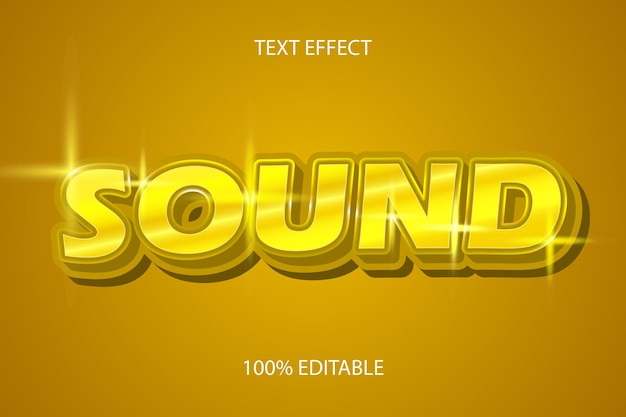 Editable text effect sound color gold