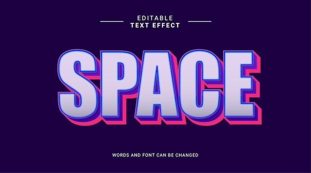 Editable text effect space blueviolet galaxy style