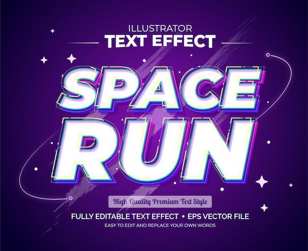 Редактируемый текстовый эффект - текстовый эффект пробел