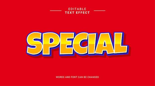 편집 가능한 텍스트 효과 특별 대담한 만화 개념 노란색 파란색