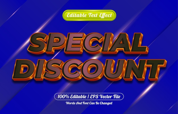 Editable text effect special discount style template