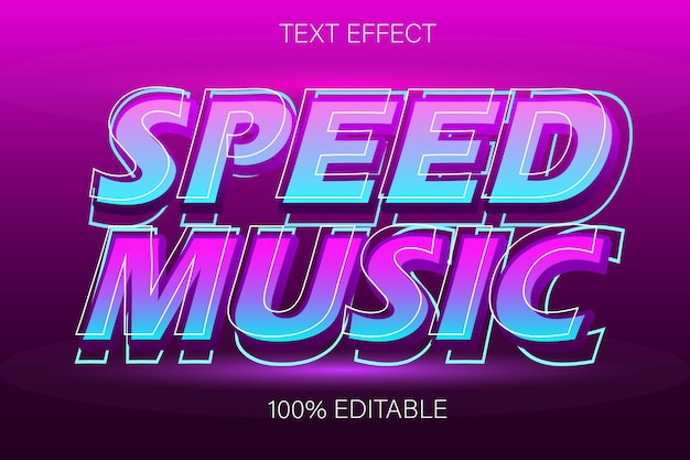 Редактируемый текстовый эффект speed music