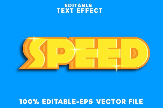 Editable text effect speed with comic style