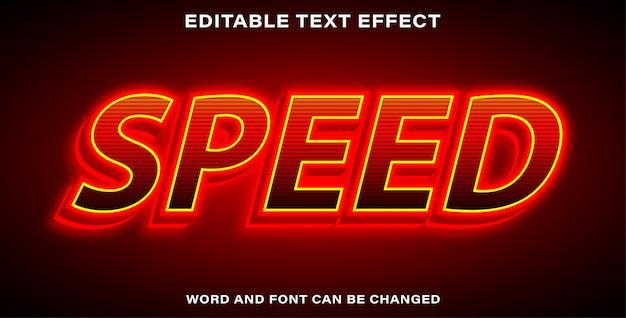Редактируемая скорость текстового эффекта
