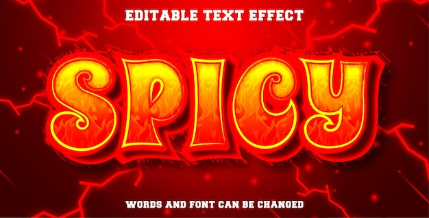 Editable text effect spicy style
