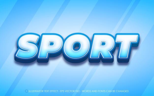 Редактируемый текстовый эффект, иллюстрации в спортивном стиле