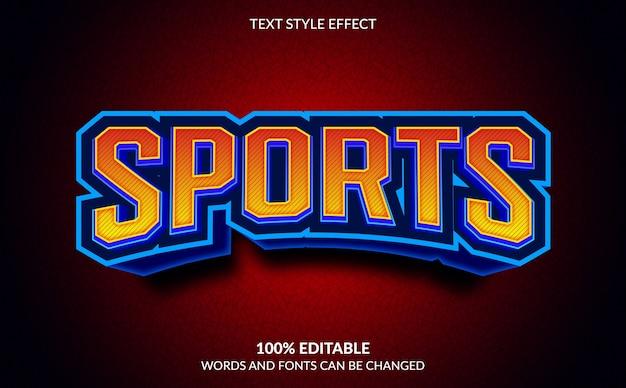 Редактируемый текстовый эффект, спортивный стиль текста