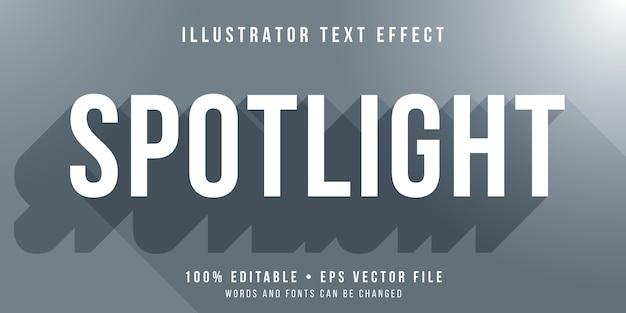 Editable text effect - spotlight shadow style