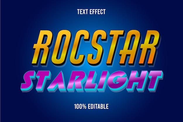 Editable text effect starlight