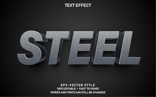 Editable text effect steel