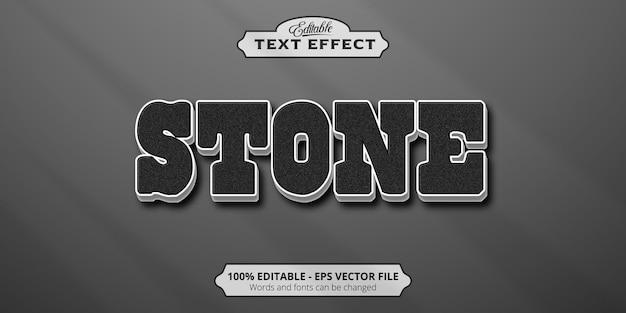 Editable text effect, stone text