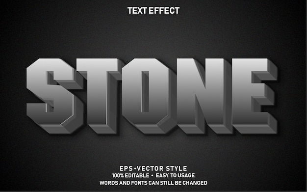Editable text effect stone