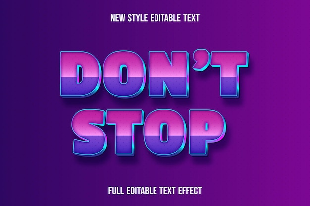 Editable text effect don't stop color pink and purple