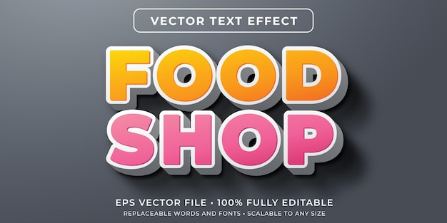 Editable text effect in store sign style