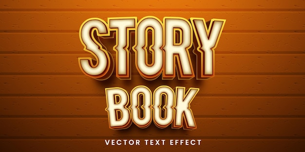 Editable text effect in story book style