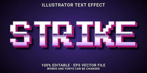 Редактируемый текстовый эффект - стиль strike