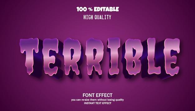 편집 가능한 텍스트 효과, 강력한 대담한 현대 글꼴 효과