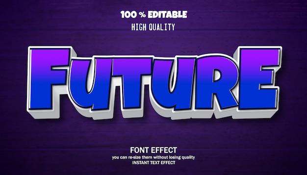 Editable text effect, strong bold modern font effect