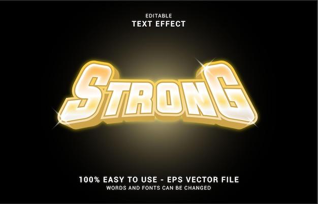 編集可能なテキスト効果、ストロングゴールドスタイルを使用してタイトルを作成できます