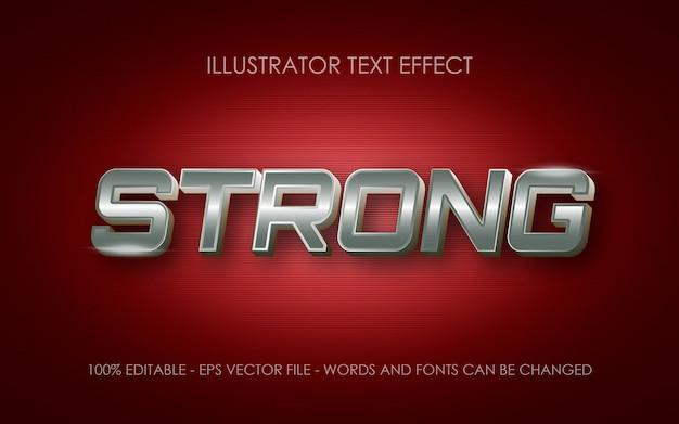 編集可能なテキスト効果、ストロングメタルスタイルのイラスト